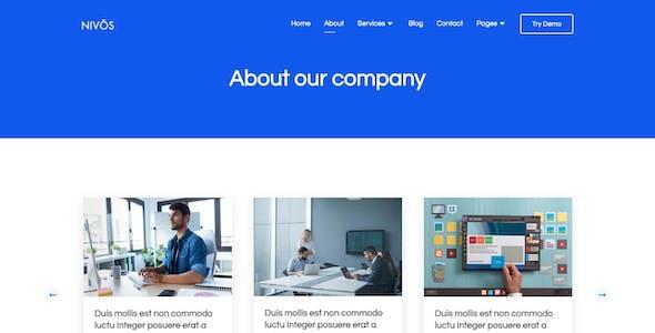 Nivos - Software Company Template Kit