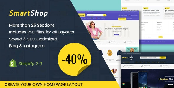 Smartshop Multipurpose Shopify Theme - Shopify eCommerce