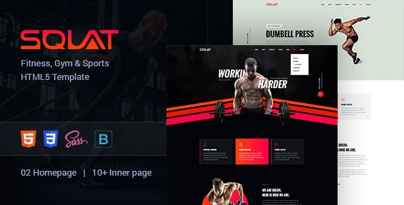Squat – Creative Fitness and Gym Template - Health & Beauty Retail
