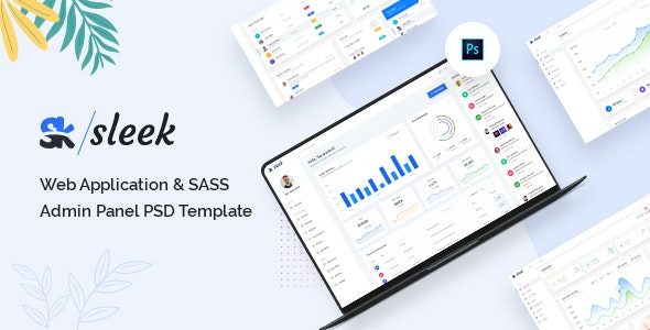 Sleek - Web Application & SASS Admin Panel PSD Template - Marketing Corporate