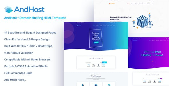 AndHost - Domain Hosting HTML Template