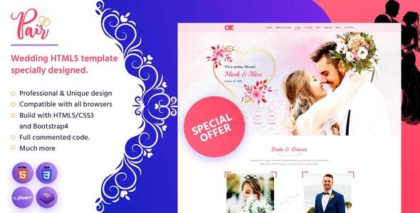 Pair - Wedding HTML5 Template - Wedding Site Templates