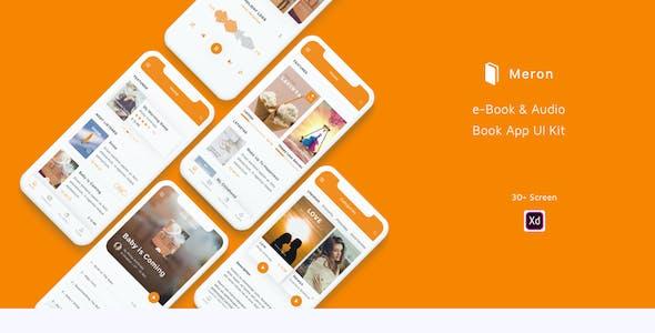 Meron - e-Book and Audio Book App UI Kit
