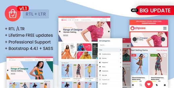 Chpoee - Bootstrap E-Commerce Template - Corporate Site Templates