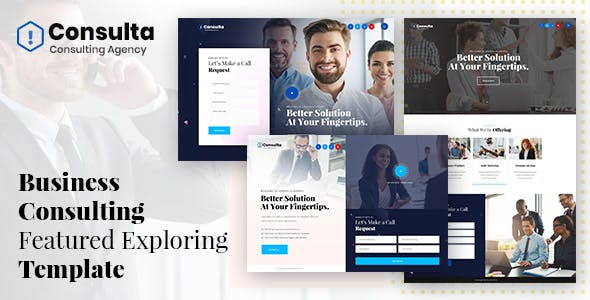 Consulta - Business Consulting Featured Adobe XD Template