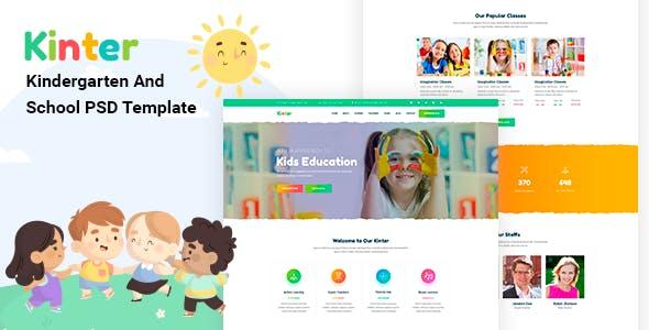 Kinter — Kids Kindergarten & School PSD Template