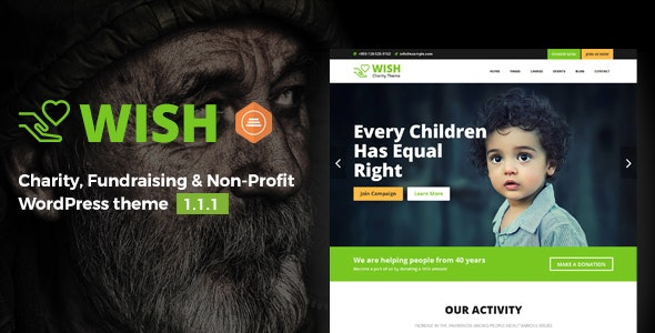 Wish - Charity WordPress Theme - Charity Nonprofit