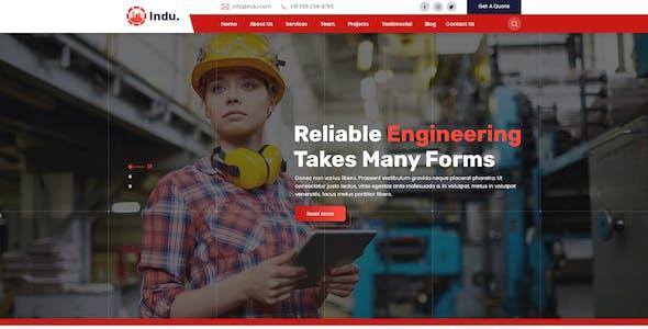 Indu-Industrial & Factory PSD Template