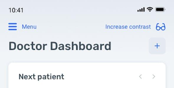Medux – Medical dashboard app for Figma