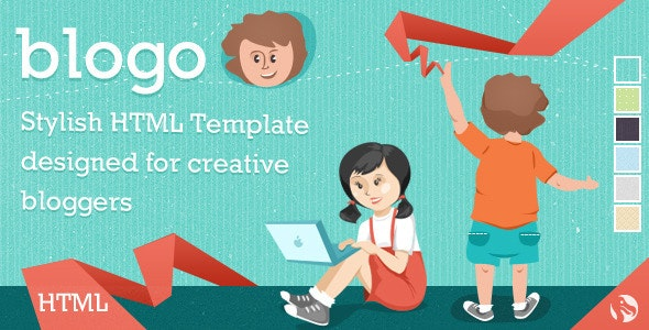 Blogo - HTML Template for Creative Bloggers - Creative Site Templates