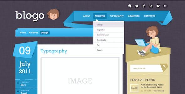 Blogo - HTML Template for Creative Bloggers