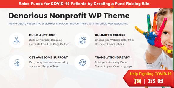 Denorious   Charity and Corona Fund Raising Nonprofit WP Theme - Nonprofit WordPress