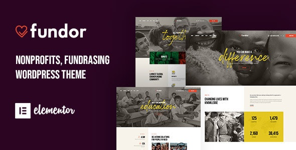 Fundor - Charity Nonprofit WordPress Theme - Charity Nonprofit