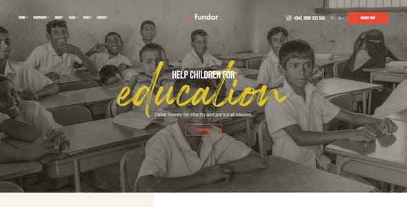 Fundor - Charity Nonprofit WordPress Theme