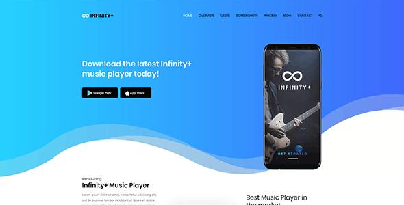 Unfinity - One page WordPress