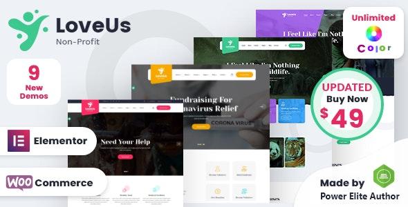 Loveus - NonProfit Charity WordPress Theme - Charity Nonprofit