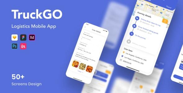TruckGo - Logistics Mobile App - Creative Sketch