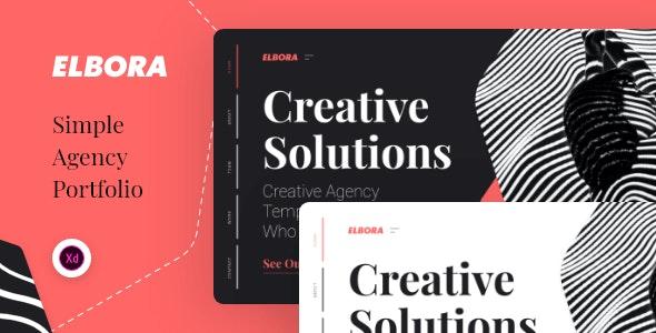 Elbora — Simple Portfolio UI Template - Portfolio Creative