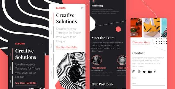 Elbora — Simple Portfolio UI Template
