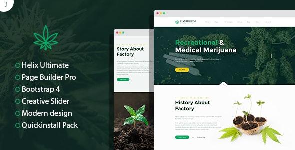 Canabicom - Medical Cannabis Joomla Responsive Template - Business Corporate