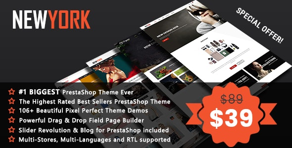NewYork - Advanced Multipurpose Page Builder PrestaShop 1.7 & 1.6 Theme - Fashion PrestaShop