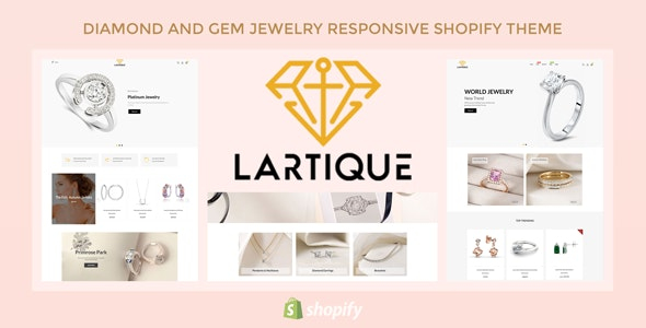 Lartique - Diamond And Gem Jewelry Responsive Shopify Theme - Shopify eCommerce
