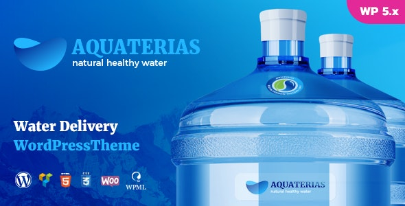 Aquaterias - Bottled Drinking Water Delivery WordPress Theme - Food Retail