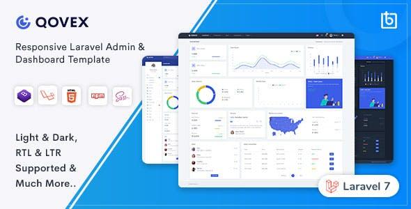 Qovex - Laravel Admin & Dashboard Template