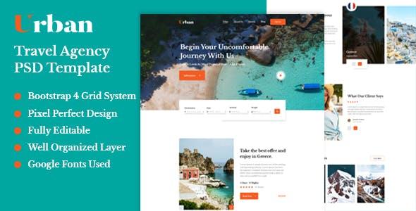 Urban - Travel Agency PSD Template