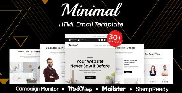 Minimal - Multipurpose Responsive Email Template 30+ Modules Mailchimp