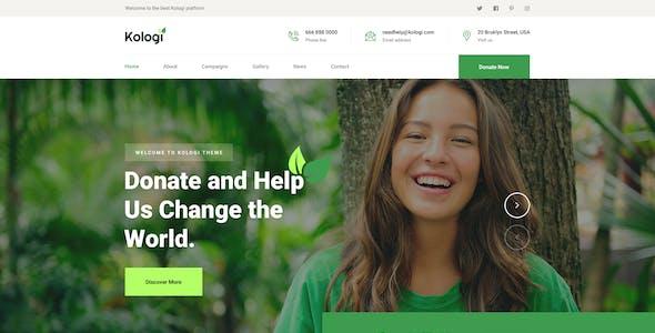 kologi - Environment & Ecology PSD Template