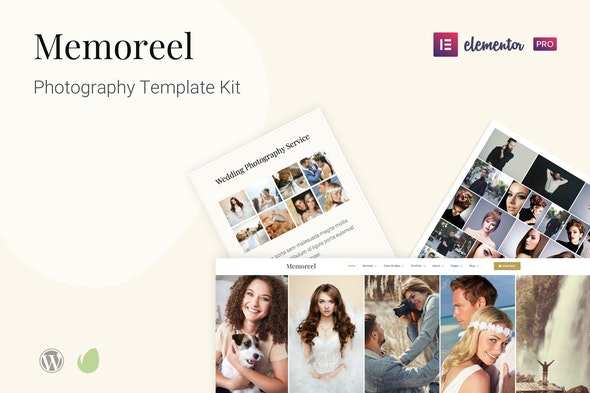 Memoreel - Photography Template Kit - Photography Elementor