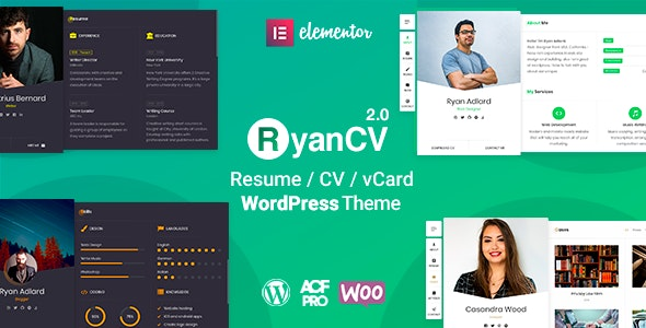 RyanCV - CV Resume Theme - Portfolio Creative