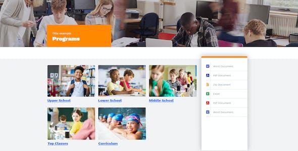EdSchool - Education Template Kit