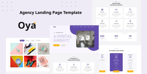 Oya - Agency Landing Page Template - Business Corporate