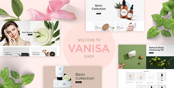 Vanisa - Organic Beauty Store & Natural Cosmetics Shopify Theme - Shopify eCommerce