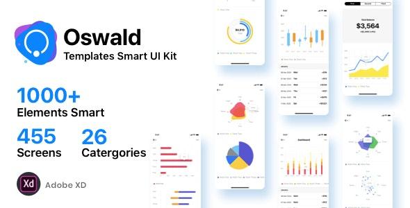 Oswald - Templates Smart UI Kit [Adobe XD] - Adobe XD UI Templates