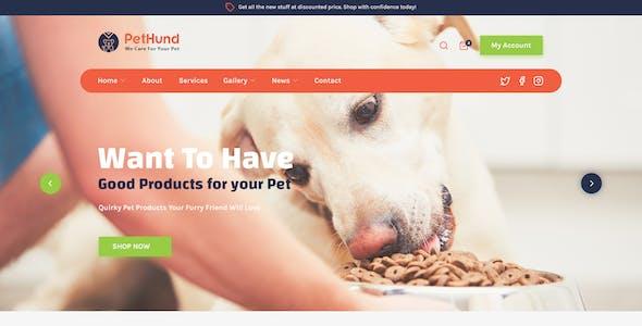 PetHund - Pet Shop and Veterinary PSD Template