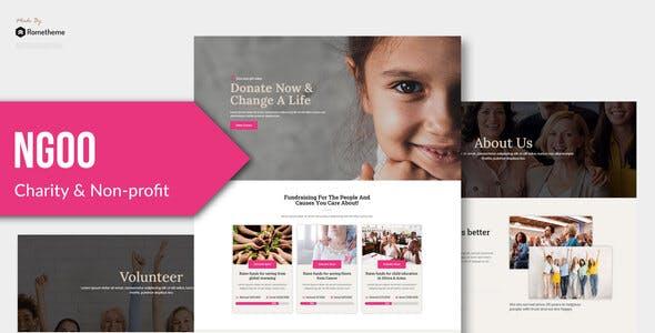 NGOO - Non-profit Charity Template Kit