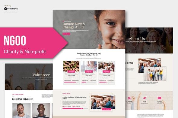 NGOO - Non-profit Charity Template Kit - Non-Profit & Religion Elementor