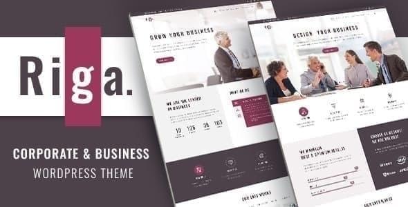 Riga   Business WordPress - Business Corporate