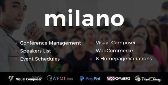 Milano | Event & Conference WordPress - Events Entertainment