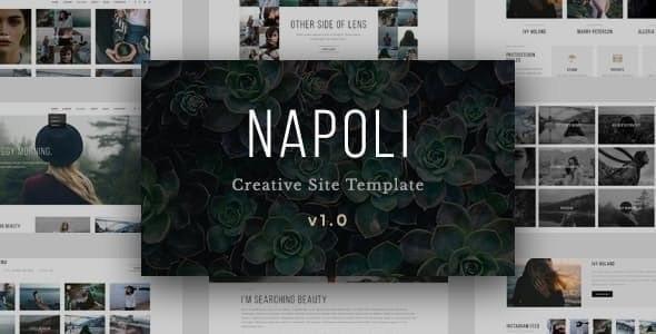 Napoli - Modern Photography  Responsive HTML Template - Photography Creative
