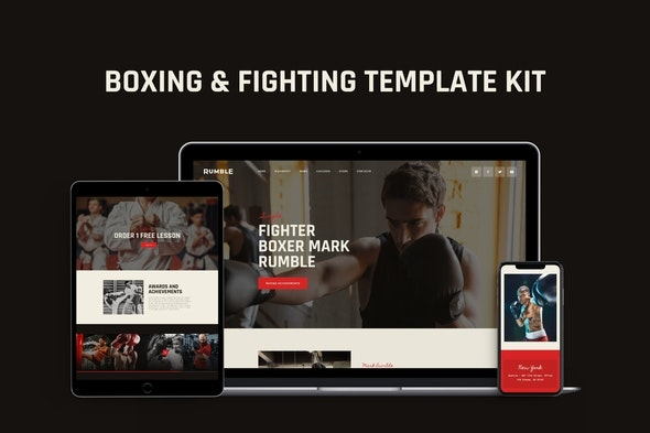 Rumble - Boxing, MMA & Fighting Elementor Template Kit - Sport & Fitness Elementor