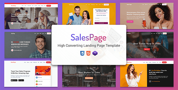 SalesPage - Landing Page Template for Creative Agencies, Apps, Portfolio Websites & Small Businesses - Business Corporate