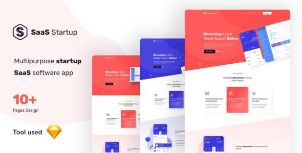 SaaS Startup - Multipurpose Startup SaaS Template - Corporate Sketch