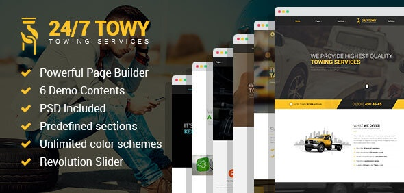 Towy - Emergency Auto Towing and Roadside Assistance Service WordPress theme - Business Corporate