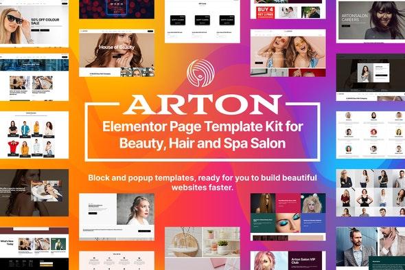 Arton - Beauty & Spa Salon Template Kit - Fashion & Beauty Elementor