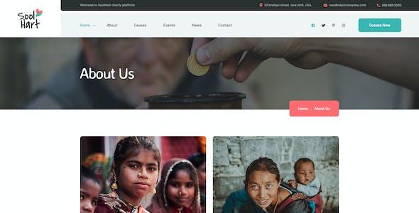 SoolHart Charity NonProfit PSD Template