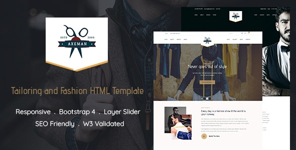 Axeman - Tailoring and Fashion HTML Template - Fashion Retail